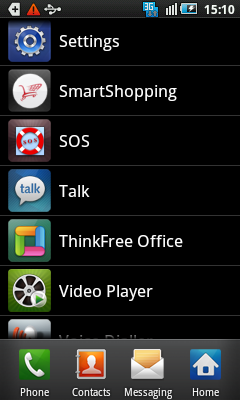 List of apps